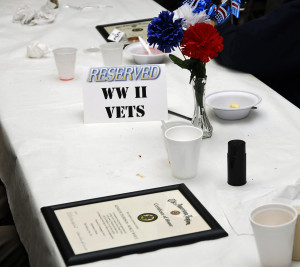 "WWII Vets were seated at the ""Table of Honor"""