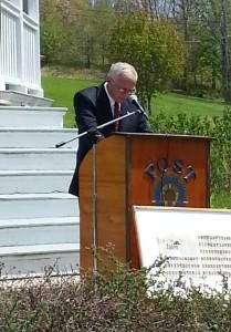 Cherryfield Superintendent William Shuttleworth delivers an outstanding speech.